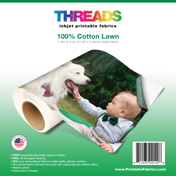 photo about Printable Fabric Roll titled 3 Backyard Roll of Cotton Property 2oz.